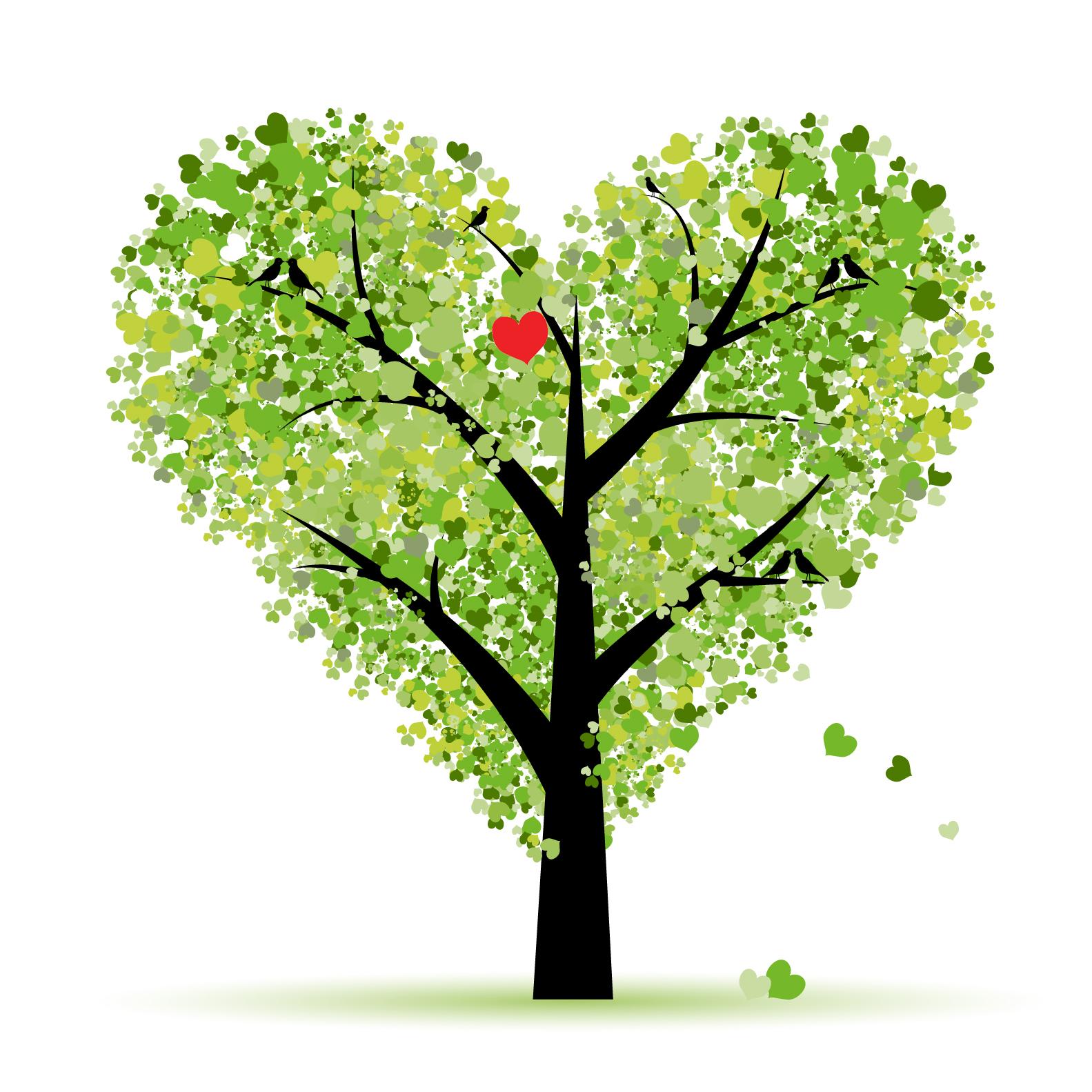 Swirly Heart Tree Clip Art For Pinterest
